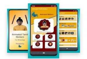 Tamil Animated Stickers for WhatsApp image